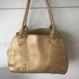 Cole Haan Gold Metallic Shoulder Bag